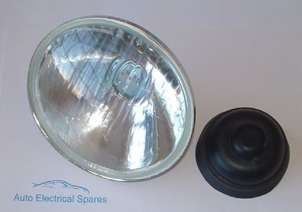"H1 HALOGEN HEADLAMP / HEADLIGHT UNIT 5 & 3/4"" RHD & LHD NON PILOT ( inner lamp )"